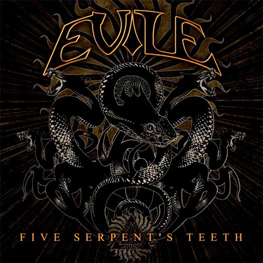 Evile, crítica y portada de Five serpent's teeth