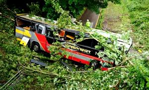 El autobús de gira que transportaba a Baroness sufre un aparatoso accidente