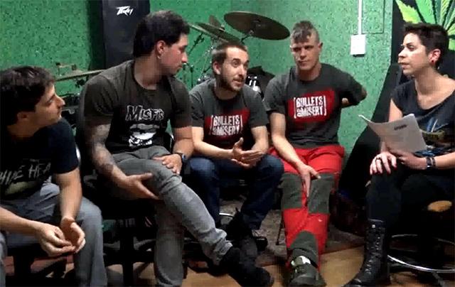 Entrevista en vídeo con Bullets of Misery