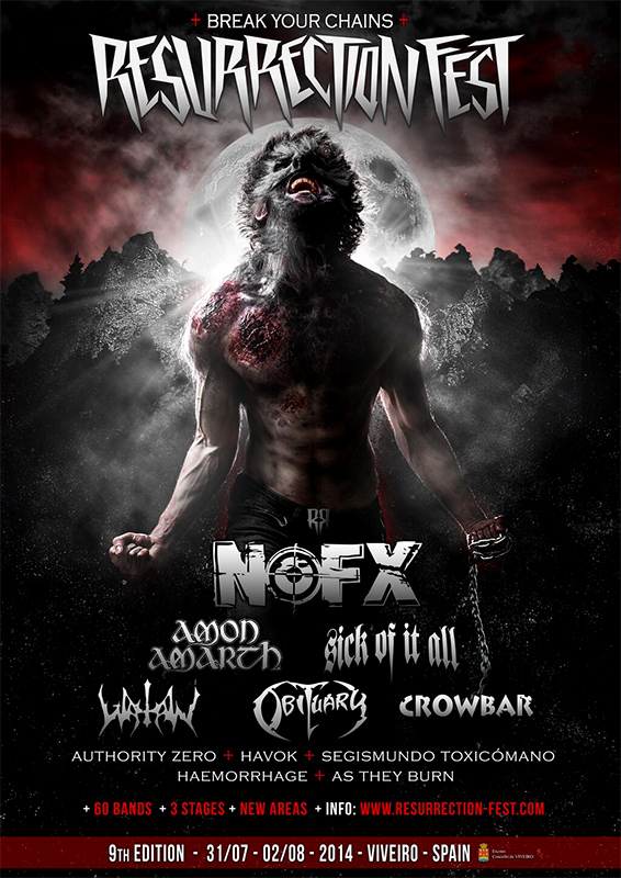 Amon Amarth, Obituary, Crowbar, Havok o Sick of it all entre las nuevas confirmaciones del 'Resurrection Fest 2014'