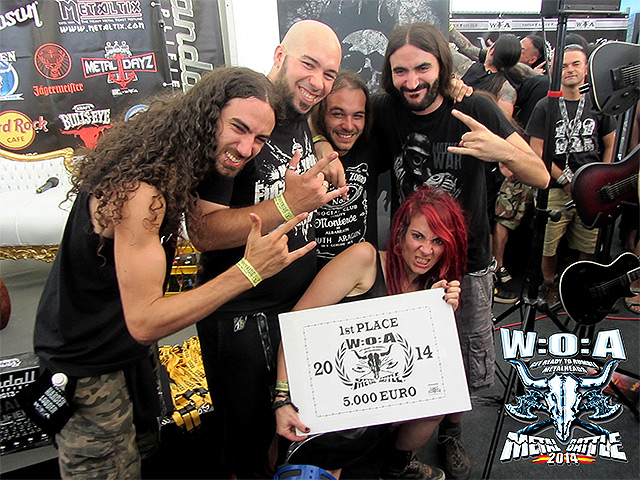 [In Mute] vencedores de la 'WOA Metal Battle' 2014