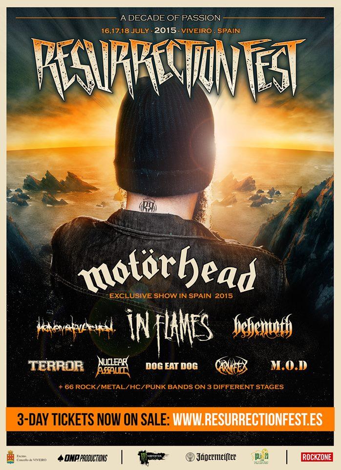 Primer cartel oficial del Resurrection Fest 2015
