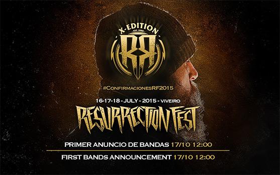 Primeros grupos confirmados para el Resurrection Fest 2015