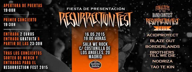 El Resurrection Fest celebra este viernes la final de su Band Contest y una fiesta oficial en Madrid