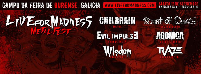 El 5º Live For Madness Metal Fest anuncia bandas y oferta especial
