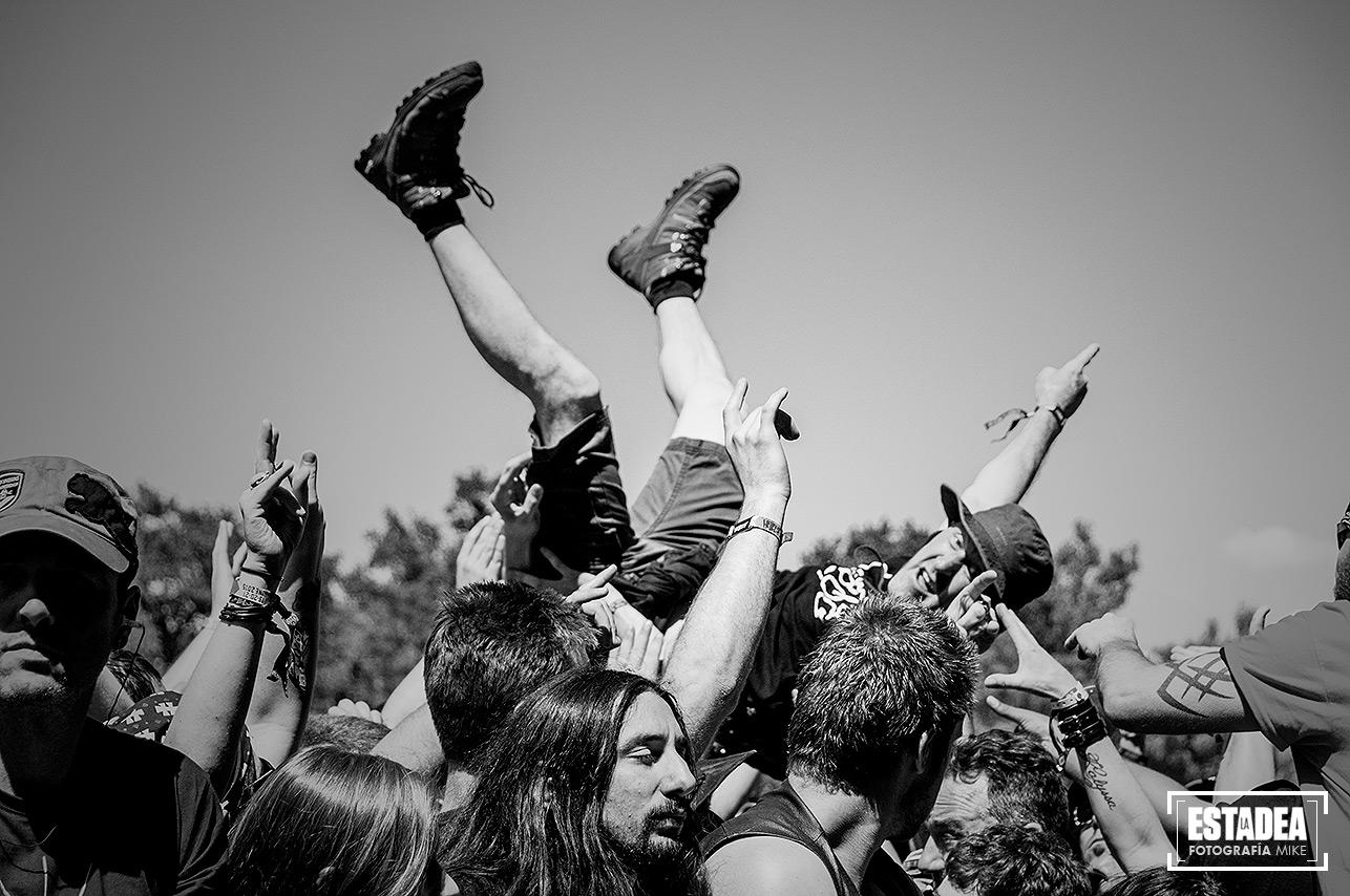 Ambiente durante el Hellfest 2015