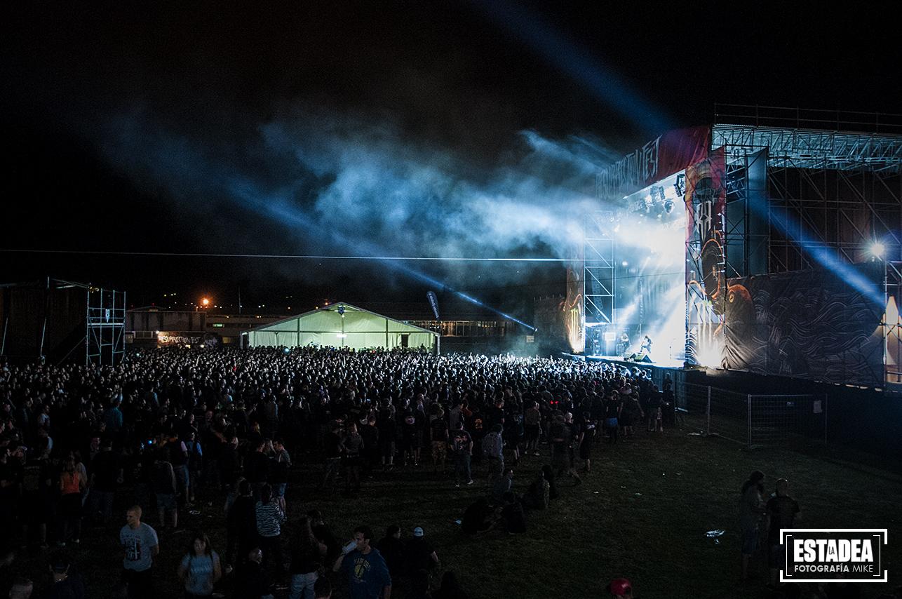 Aspecto del RF Main Stage durante el concierto de Children of Bodom