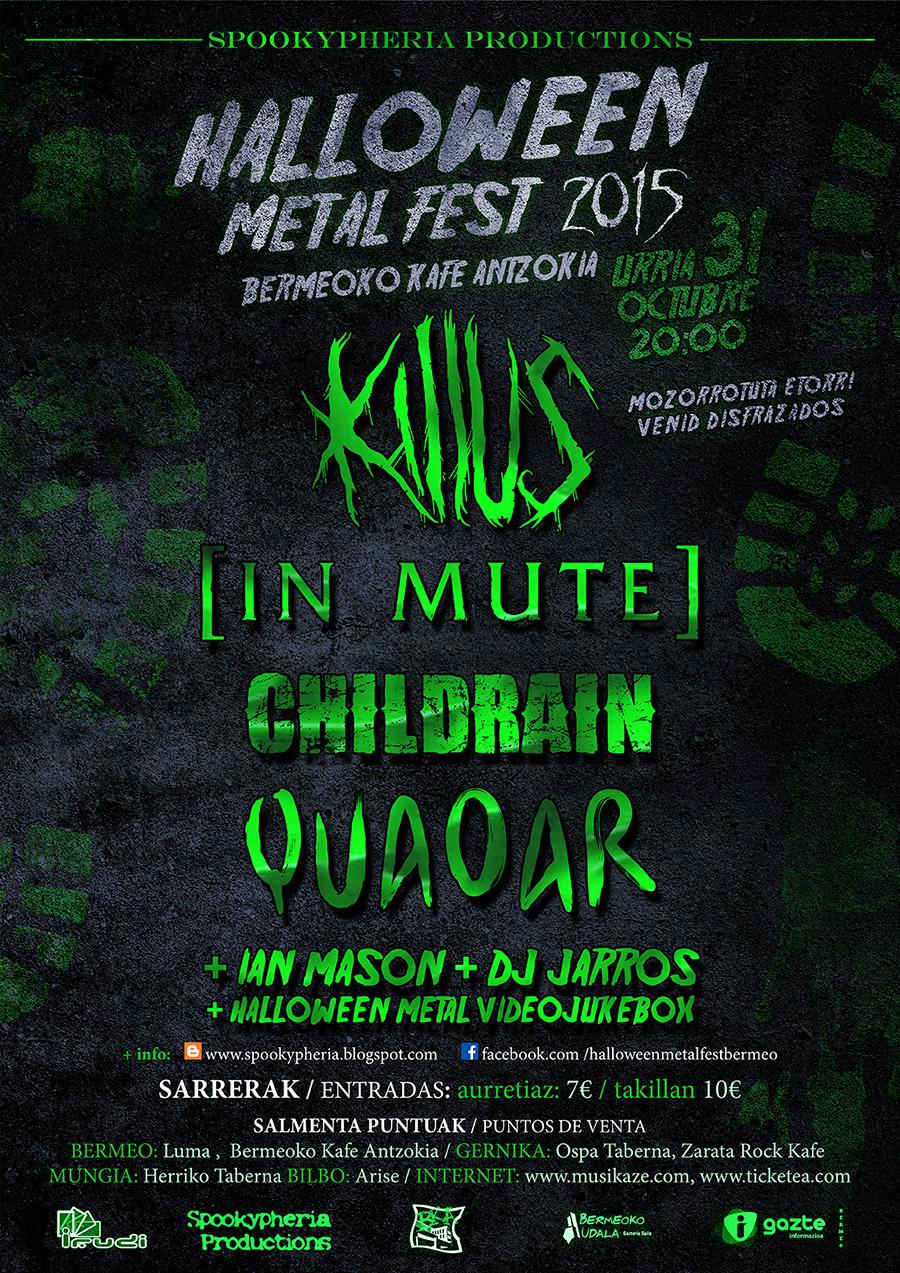 La organización del Halloween Metal Fest anunacia su cartel