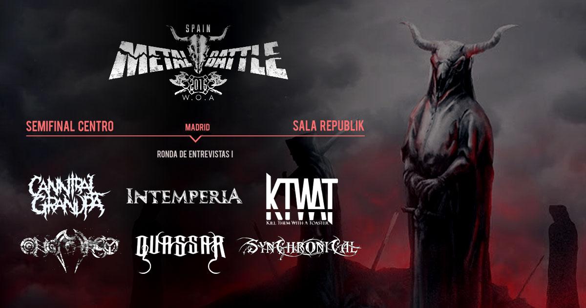 Semifinal Centro Metal Battle Spain: Ronda de entrevistas I