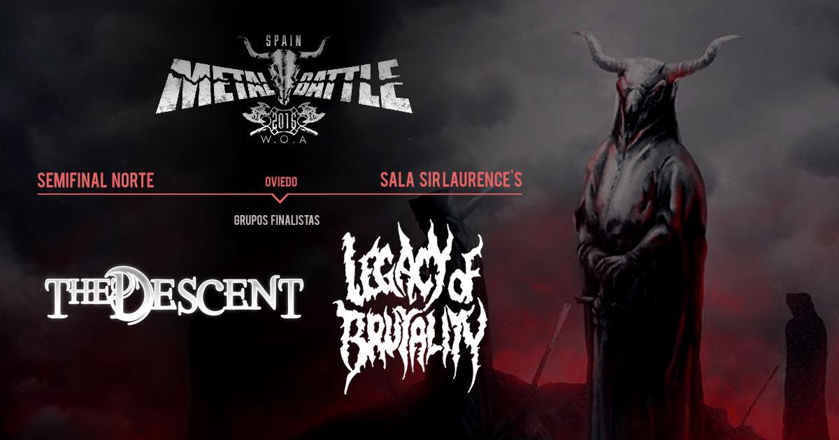 The Descent y Legacy of Brutality son los primeros finalistas de WOA Metal Battle Spain