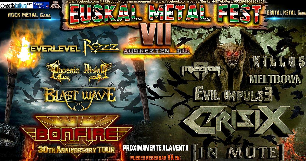 Cartel y detalles del 'VII Euskal Metal Fest'