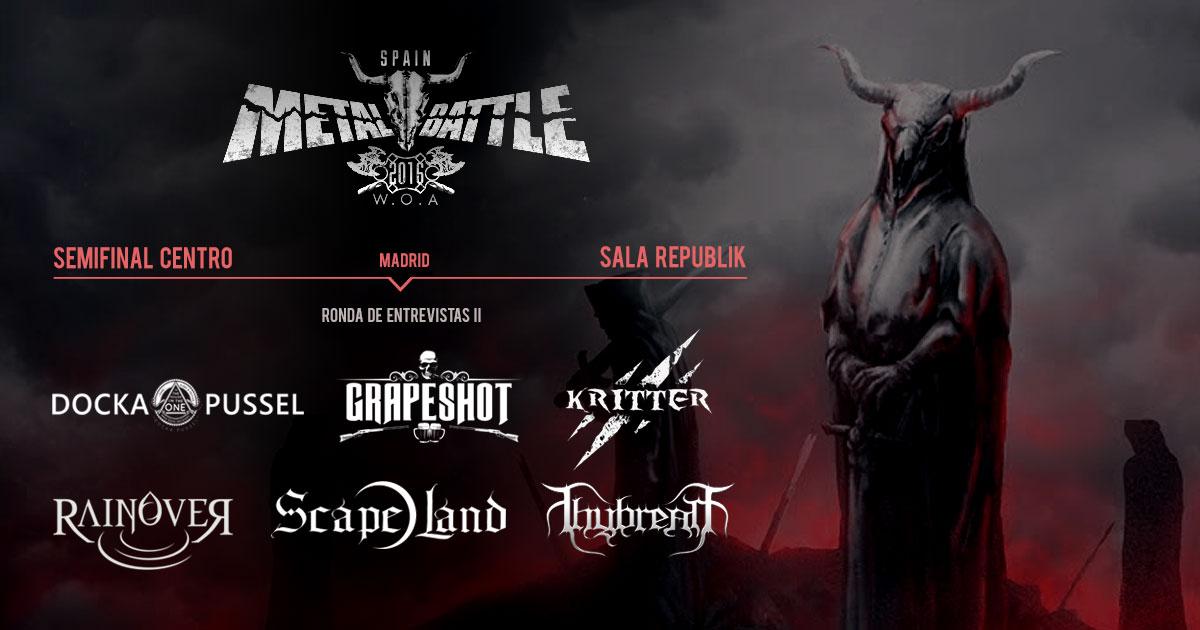 Semifinal Centro Metal Battle Spain: Ronda de entrevistas II