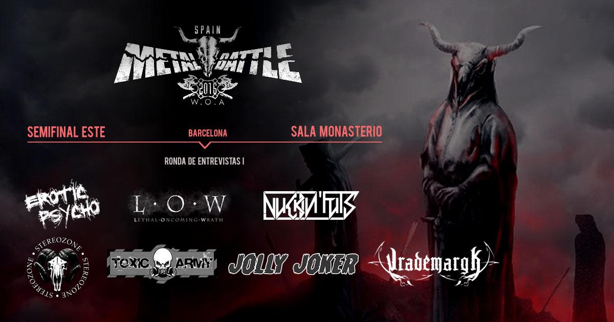 Semifinal Este Metal Battle Spain: Ronda de entrevistas I