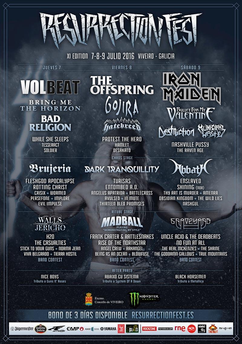 Nuevas bandas para el Resurrection Fest 2016
