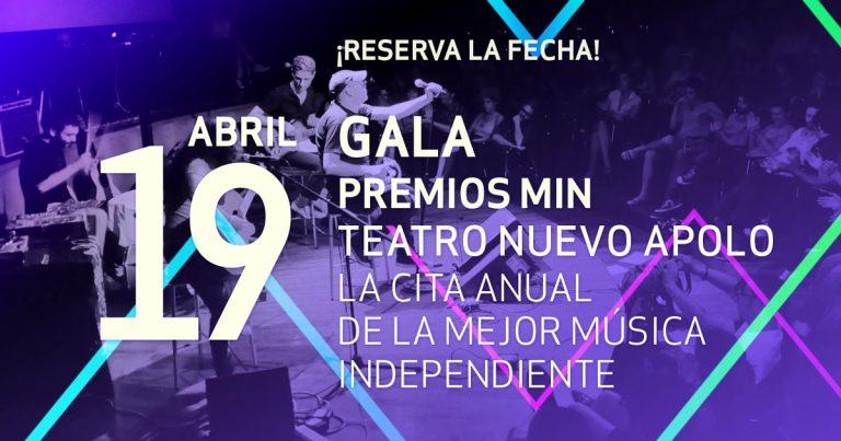 Los Premios MIN 2016 se entregarán el martes 19 de abril