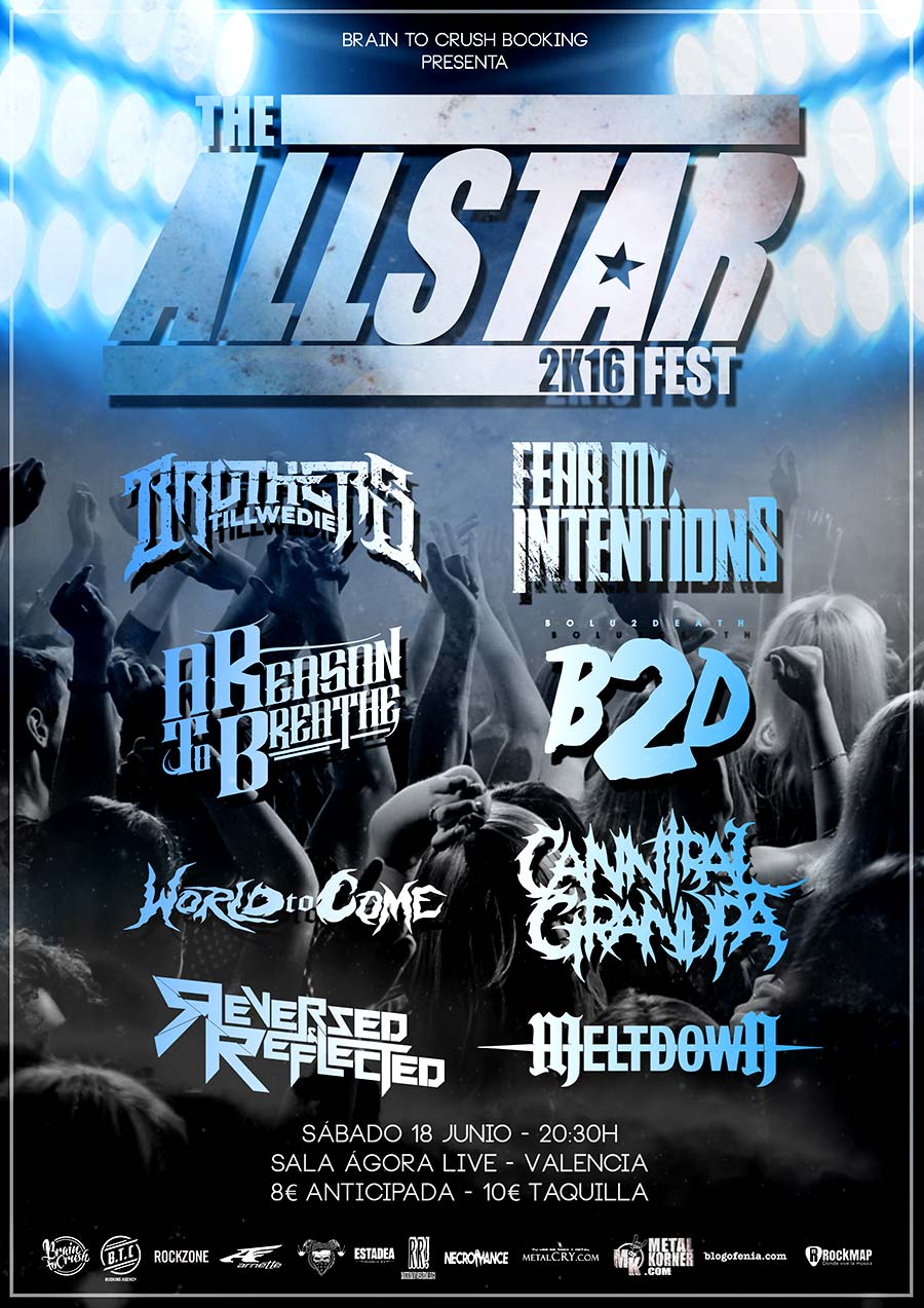 Cartel y detalles para 'The All-Star 2K16 Fest' en Valencia