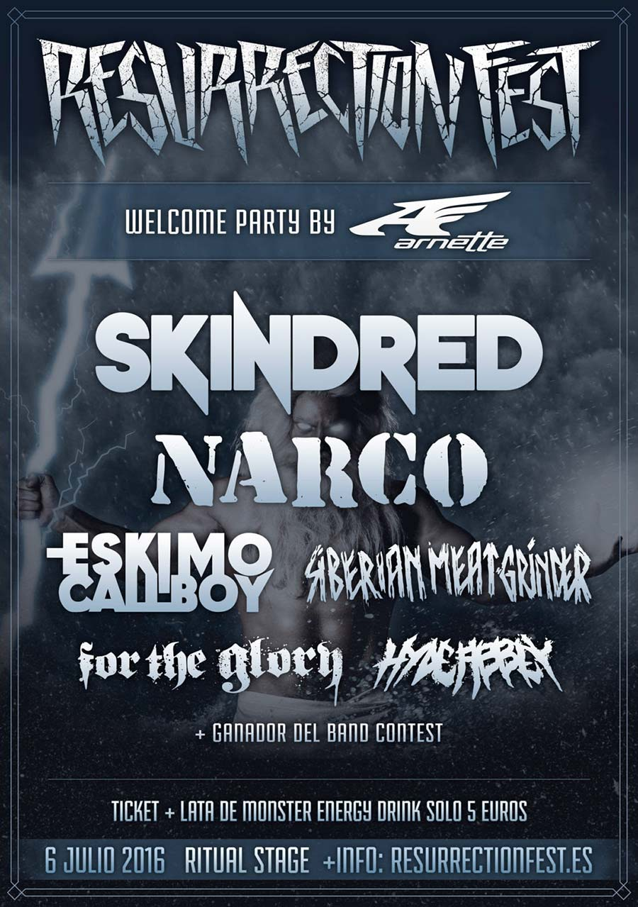 El Resurrection Fest 2016 presenta el cartel de su Warm-Up oficial