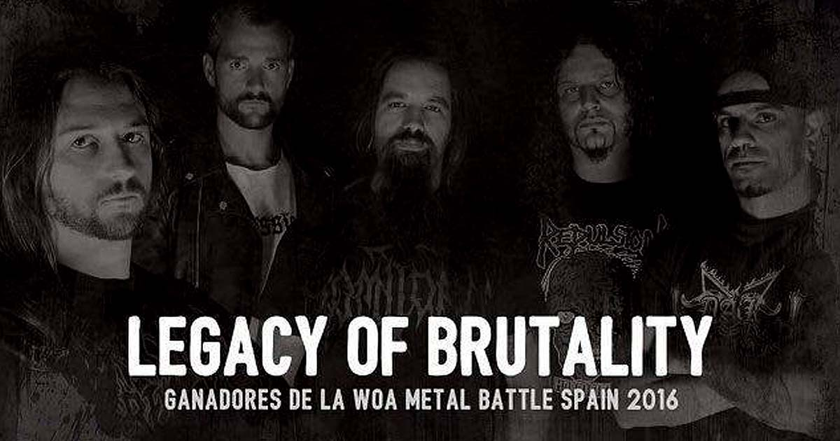 Legacy of Brutality vencedores de la final de la WOA Metal Battle Spain