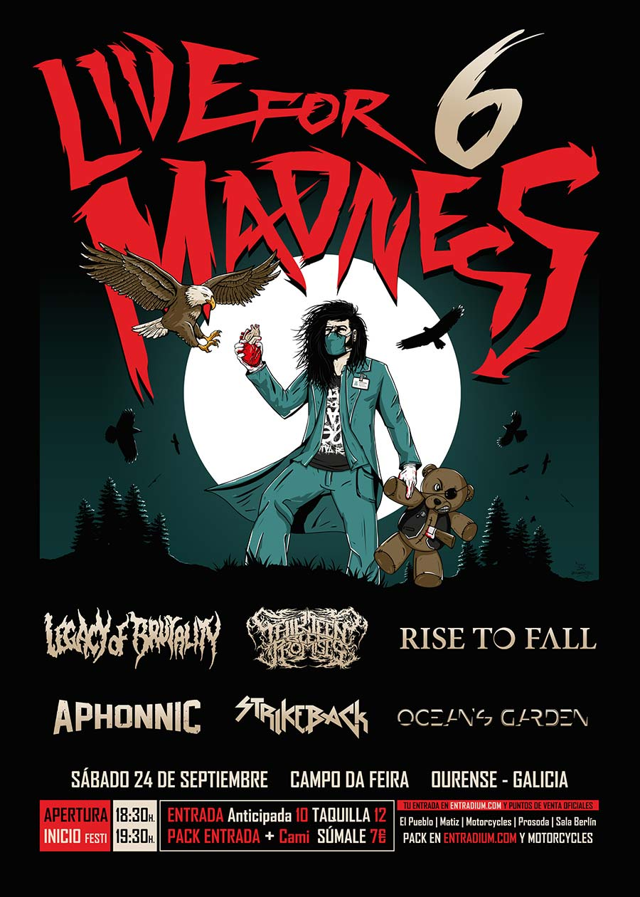 Cartel y detalles del Live for Madness Metal Fest 2016