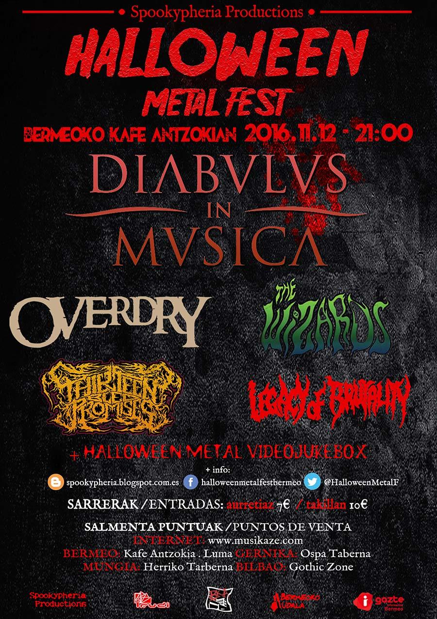 Cartel y detalles del Halloween Metal Fest 2016