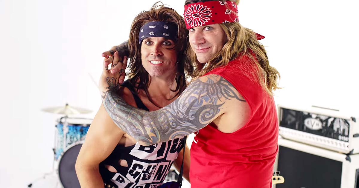 Steel Panther y el vídeo de 'She's Tight' con Robin Zander