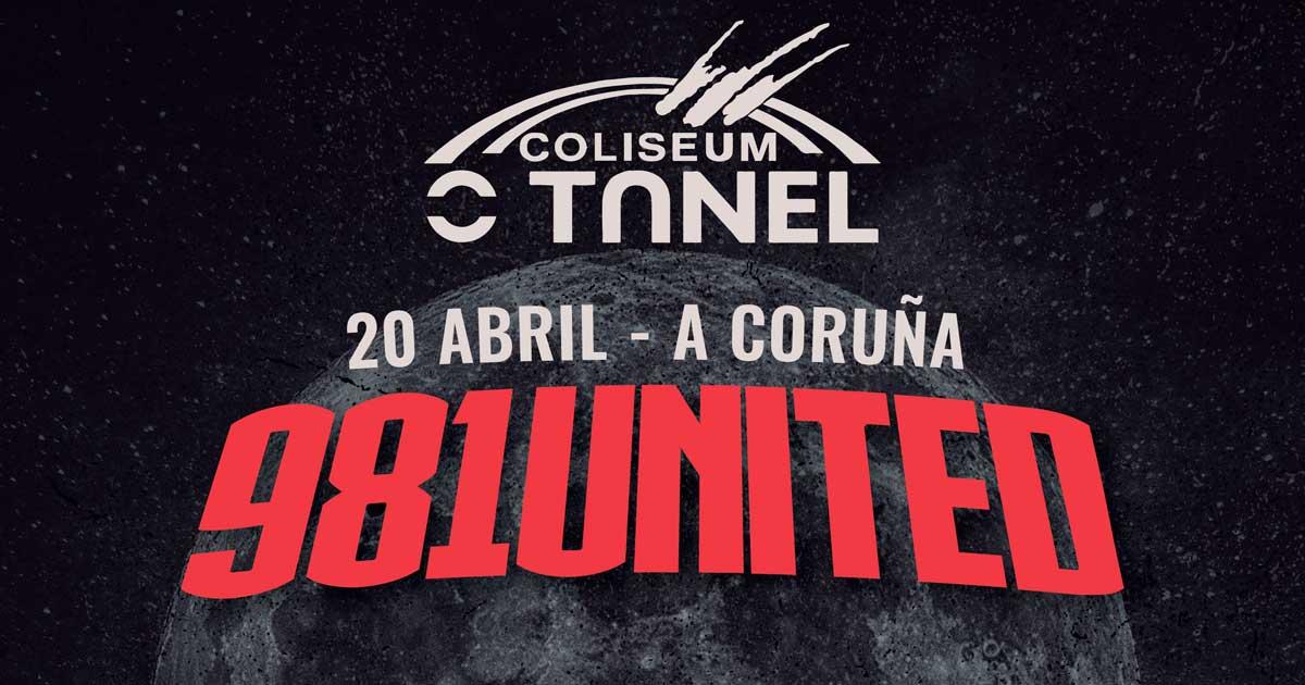 Cartel y detalles del 981 United 2018 en A Coruña